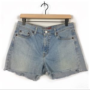 Levi's 519 Low Stretch High Rise Denim Shorts